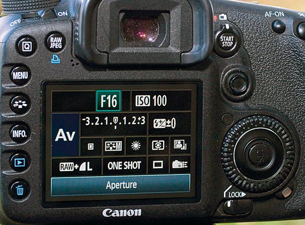setup máy ảnh chụp cảnh