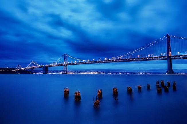 chụp hình cảnh blue hour
