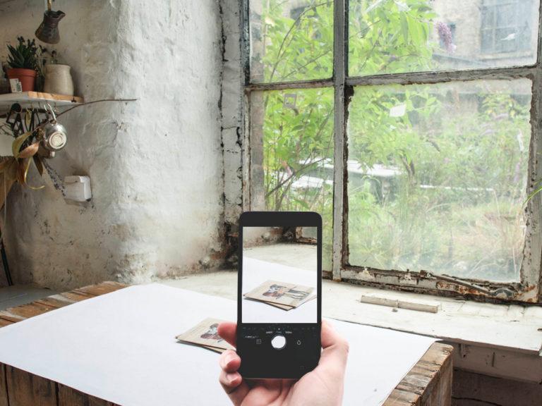 chụp sản phẩm trên điện thoại