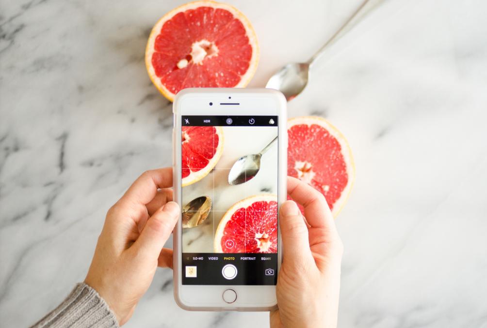 Chụp ảnh thực phẩm với điện thoại