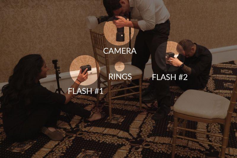 đèn flash chụp nhẫn cưới