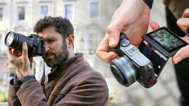 Máy ảnh mirrorless và DSLR