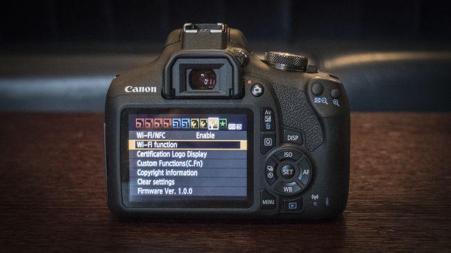 kết nối canon eos 2000D