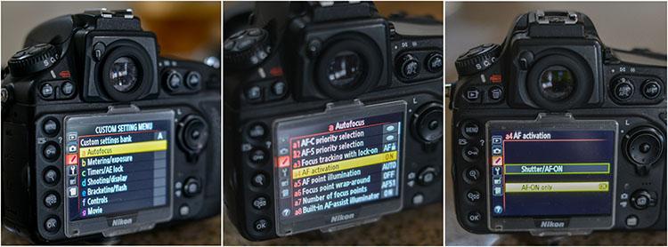 lấy nét máy ảnh Nikon