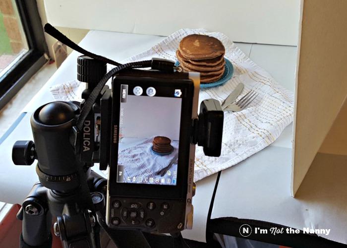 ống kính chụp món ăn