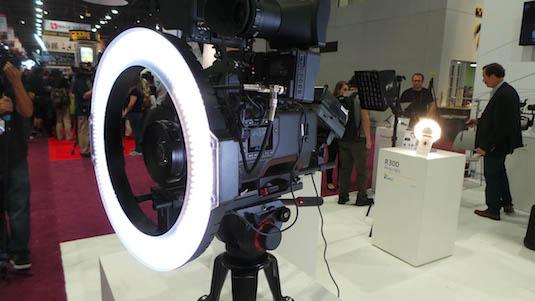 quay phim với led ring