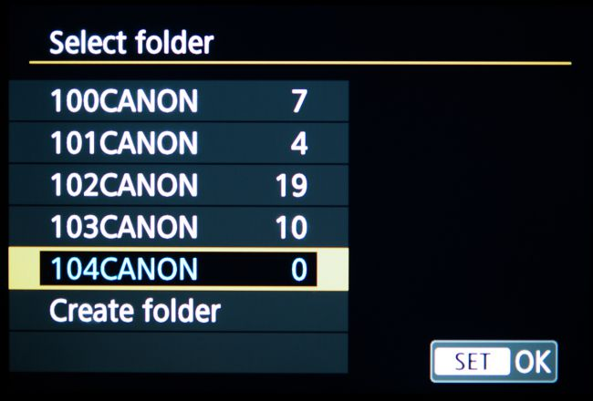 folder lưu trữ canon