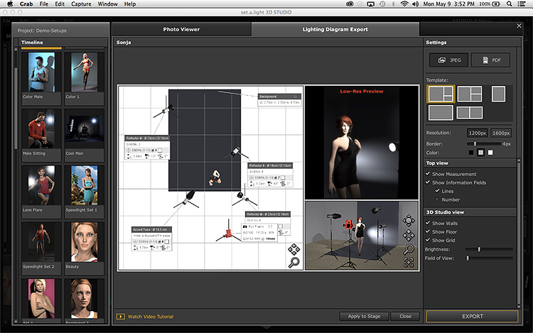 phần mềm setup đèn studio