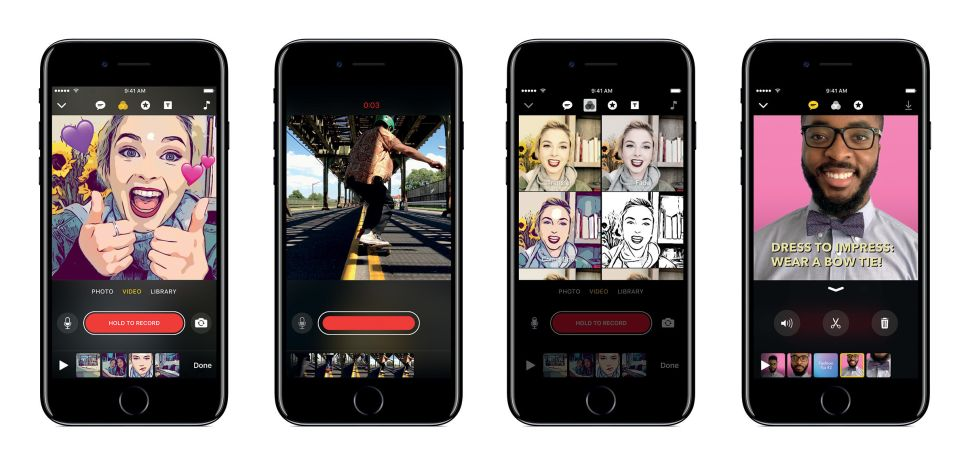 phần mềm video Apple Clips