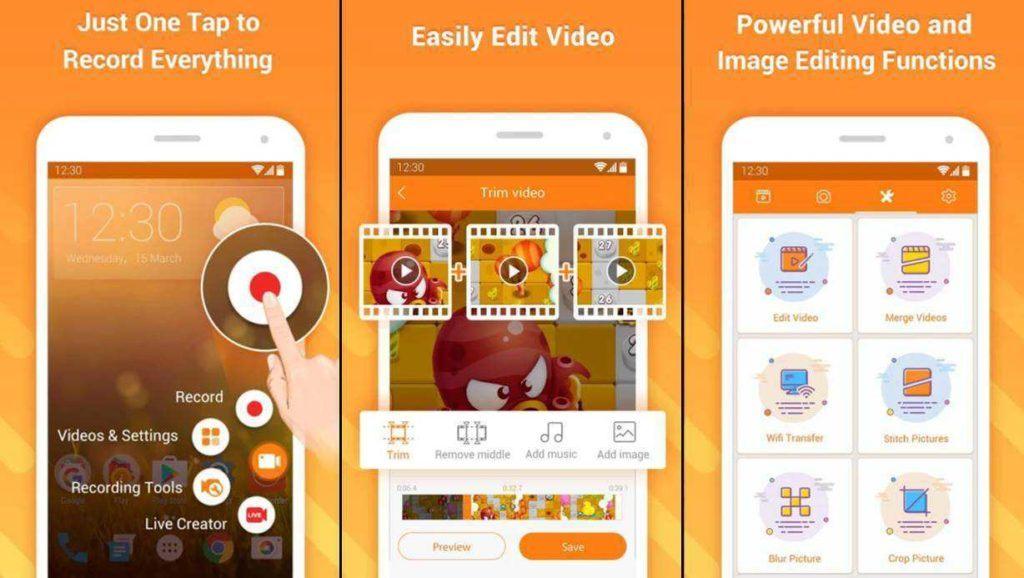App quay màn hình Android DU recorder