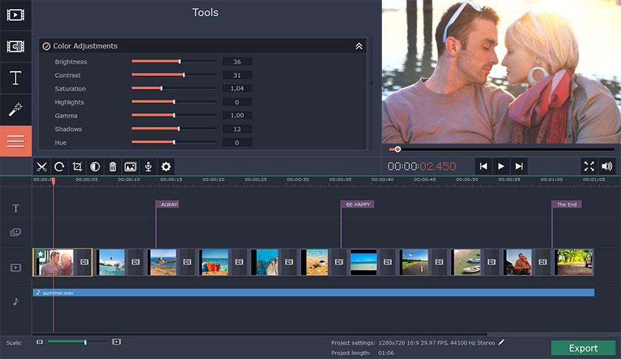 phần mềm video Movavi Slideshow Maker