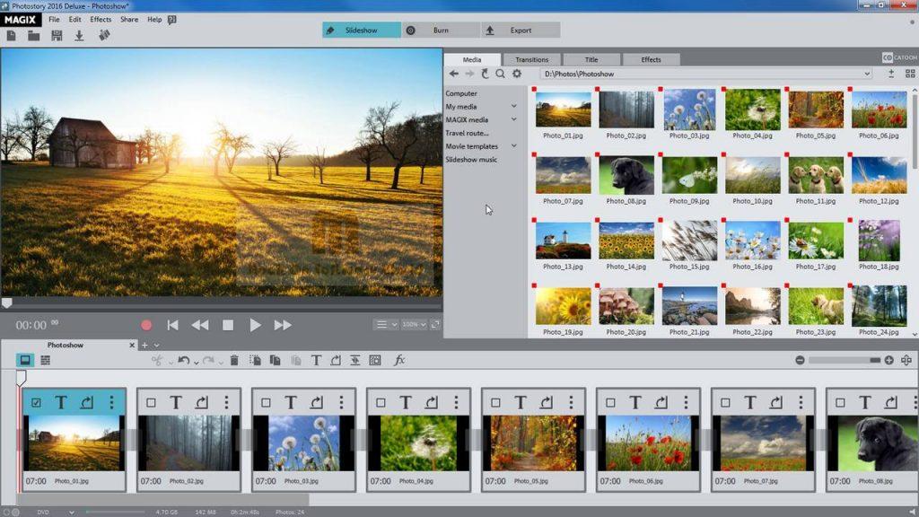 phần mềm Photostory Deluxe
