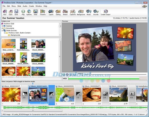 phần mềm làm video từ ảnh Proshow Gold