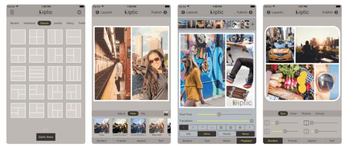 app ghép ảnh Diptic