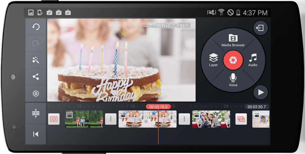 app chỉnh video KineMaster