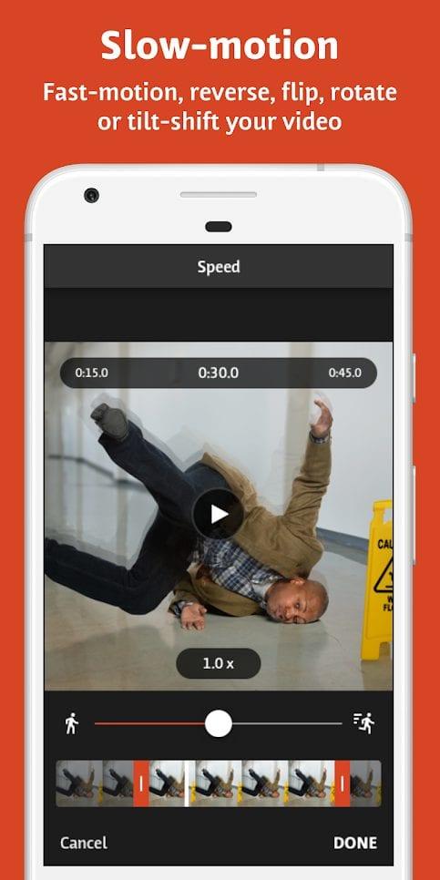 app chỉnh slow motion Videoshop