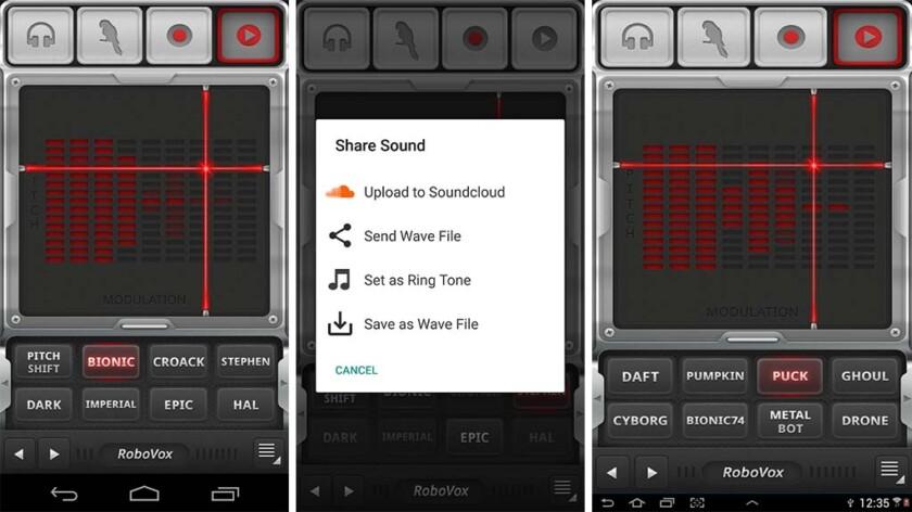 App thay đổi giọng nói