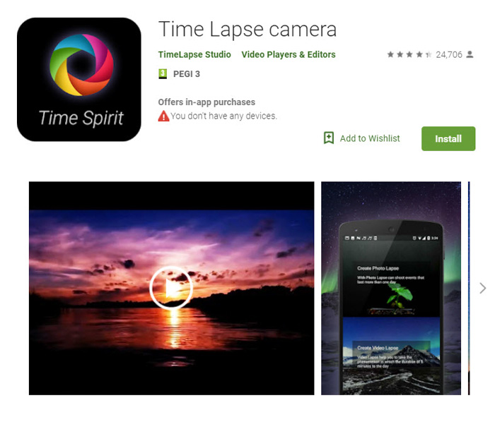 ứng dụng Time Lapse Camera
