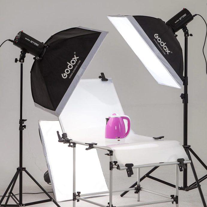 setup đèn chụp sản phẩm