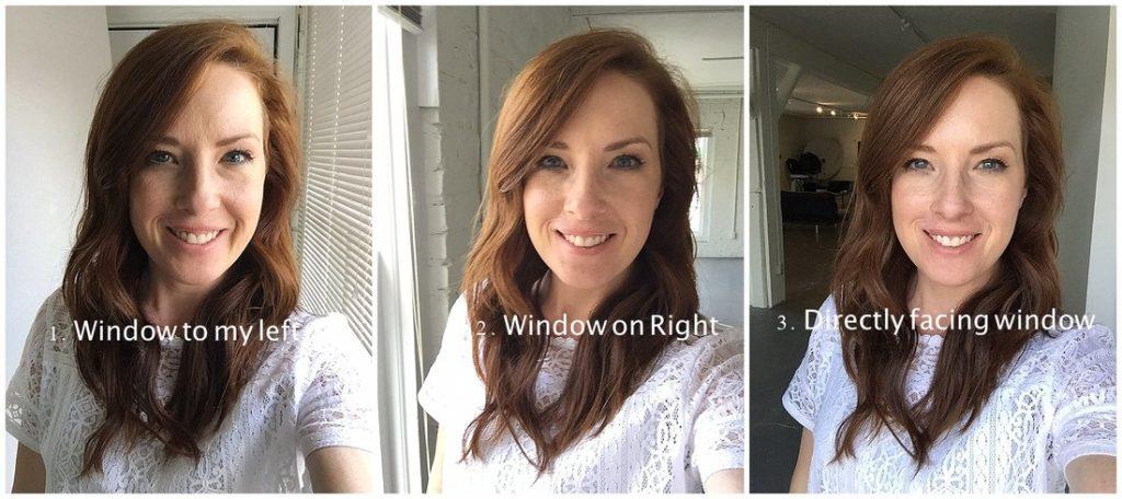 ánh sáng Selfie