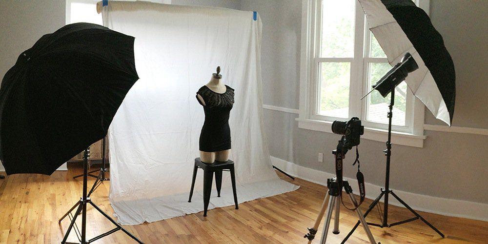 ánh sáng chụp quần áo